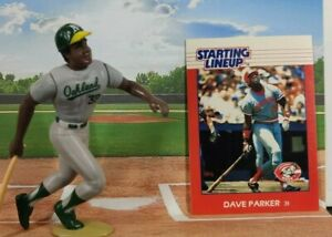 1988 ROOKIE STARTING LINEUP loose with card DAVE PARKER - OAKLAND ATHLETICS