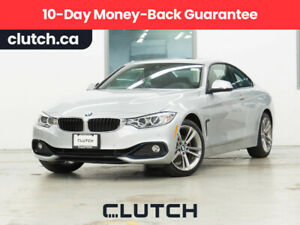 2017 BMW 4 Series 430i xDrive Coupe AWD w/ Navigation, Sunroof and Front Heated Seats