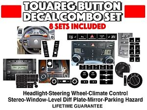 Vw Touareg Peeling Button Repair Decal Sticker Set