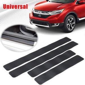 4x-Auto-Car-Kohlefaser-Einstiegsleisten-Lackschutzfolie-Schutzfolie-3D-Aufkleber