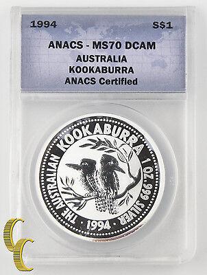1994 Australia Kookaburra Certified SS1 MS70 DCAM Coin