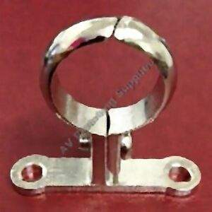 Chrome-Plated-Brass-Screw-On-Pipe-Bracket-Pipe-Clip-School-Board