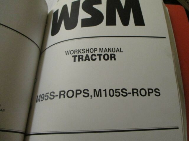 Kubota M95s Rops M105s Rops Tractor Workshop Manual