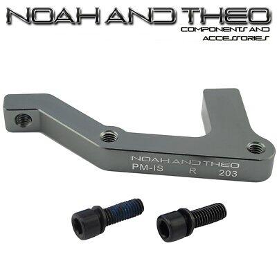 Ultra Light Disc Brake Adapter Front 203mm Post PM framework to Brake Caliper