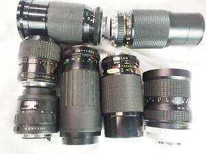 Pentax K PK mount camera  zoom lens lot for parts or repair