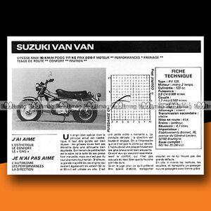 SUZUKI RV 125 VAN VAN VANVAN 1977 Essai Mini Bike / Original Road Test #c324 - France - État : Trs bon état: Livre qui ne semble pas neuf, ayant déj été lu, mais qui est toujours en excellent état. La couverture ne présente aucun dommage apparent. Pour les couvertures rigides, la jaquette (si applicable) est incluse. Aucune p - France