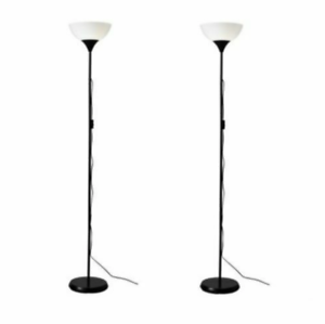 Tall Floor Standing Lamp Black Reading