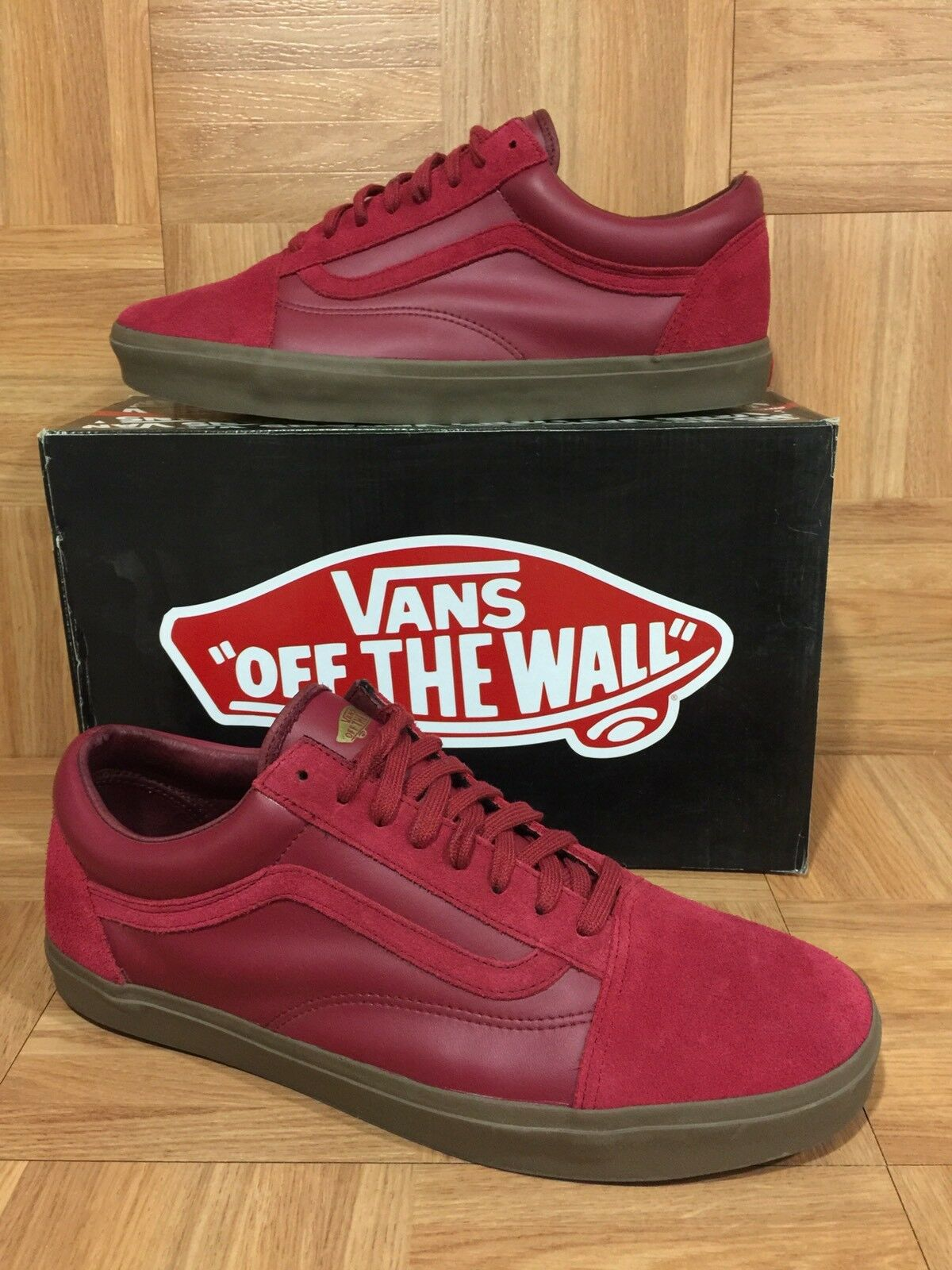 RARE VANS Old Skool '92 Zero Supreme Maroon Red Gum Brown Sz 13 Men's shoes LE