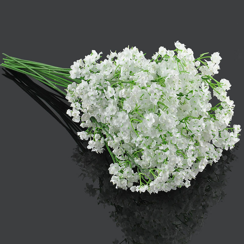White Gypsophila Artificial Silk Floral Flower Bouquet Wedding Home Decor Ebay