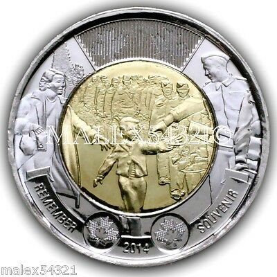 Canada Twoonie remember souvenir 2014 uncirculated