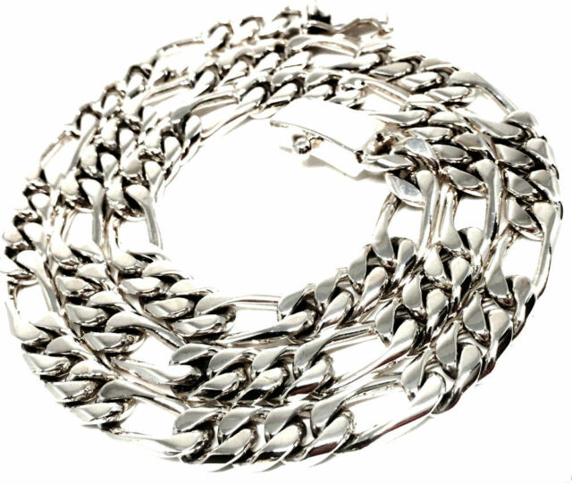 TAXCO MEXICAN 925 STERLING SILVER MEN'S UNISEX CHAIN LINK NECKLACE MEXICO