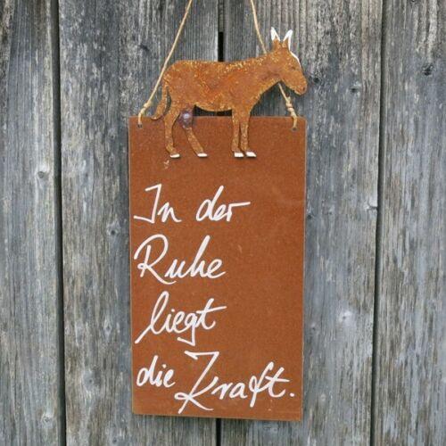 Bouclier Rouille Jardin dans le calme est la force âne