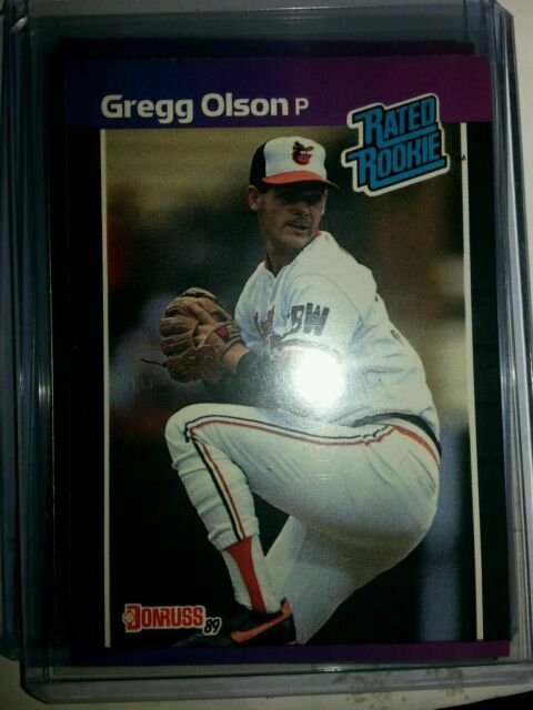 1989 Donruss Gregg Olson Baltimore Orioles 46 Baseball Card For Sale Online Ebay