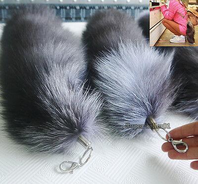 New Keychain Fox Fur Tail Tassel Bag Charm Handbag Pendant Accessory Hot Fashion