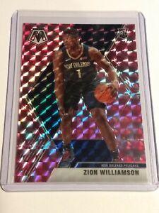 Zion-Williamson-2019-20-Mosaic-Pink-Camo-Prizm-RC-209-Duke-new-Orleans-Pelicans