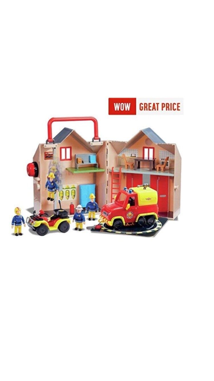 NEW New 2017   18 Fireman Sam Fire Station Rescue Set Pontypandy Rescue