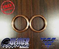 Ulmer Racing Yamaha Snowmobile Copper Exhaust Gasket Set For Phazer (set Of 2)