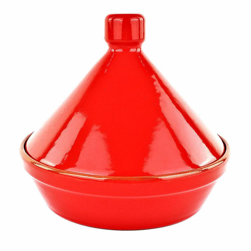 Topf Tajine Rot Ton - Pfanne aus Feuer Kunsthandwerk - cm 24 - Colì