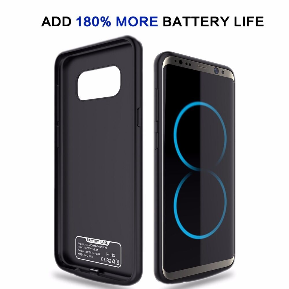 5500mah external power bank battery pack charger case for samsung galaxy s8 plus ebay. Black Bedroom Furniture Sets. Home Design Ideas