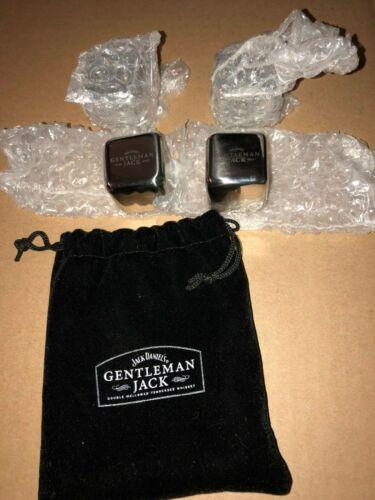 JACK DANIELS Gentleman Jack Whiskey Glacier Steel Cubes Set of 4 w// Bag