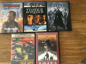 Lot-of-5-action-movie-DVDs-Includes-From-Dusk-Till-Dawn-and-The-Untouchables