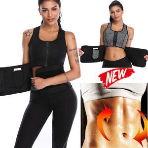 8e68a00fe6 Women s Waist Trainer Cincher Vest Slimming Workout Sauna Sweat Belt ...