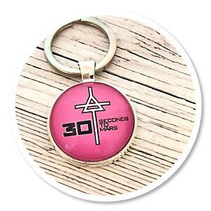 *30 seconds to mars* Echelon 3STM Triad keyring key ring pink