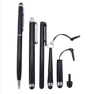 6-Touchpen-Modelle-Mix-Set-Stylus-schwarz-Smartphone-Tablet-iPhone-Samsung-HTC