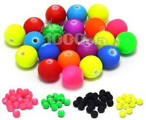 Lot 50/100/200... PERLES/Beads Ø 8mm Acrylique Mat FLUO NEON Bracelet