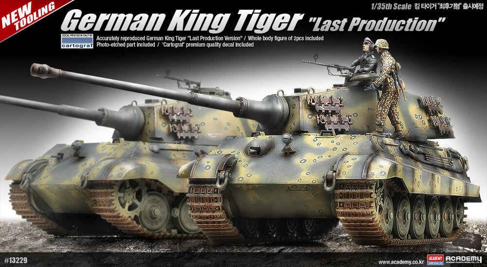 1 35 German King Tiger Last Production Academy Hobby Model Kits