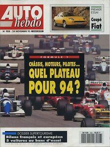 AUTO-HEBDO-n-908-du-24-Novembre-1993-ESSAIS-SUPERTOURISME-RAC-RALLY