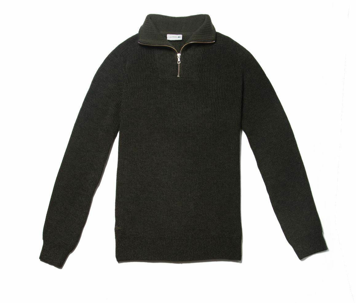 LACOSTE MEN'S ZIPPERED STAND-UP COLLAR RIBBED JUMPER FR 2 4 5 XS M M-L rrp -