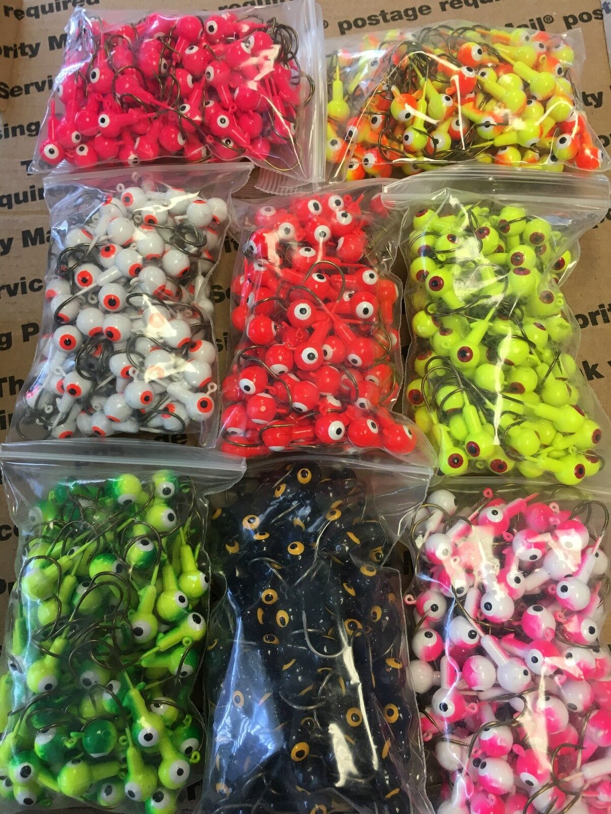 Lures Pro 800 PCs 1 8  oz  Jig Head Fishing hooks Lead Jig Heads Crappie Lot Qty  brands online cheap sale