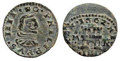 Coins & Paper Money Frugal Ac#by Ancient Spain Philip Iv 4 Maravedis Madrid 1662 Spain Coin With Wave Coins: Medieval