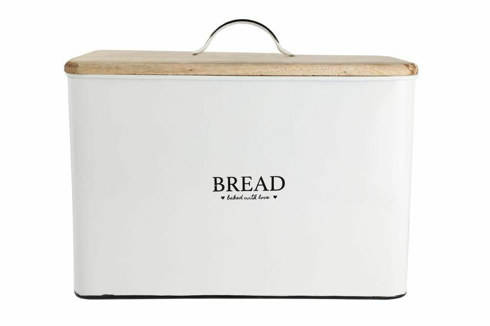 Portapane in latta  Bread  - Grigio