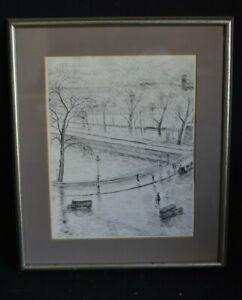 Albert MARQUET PARIS Gravure originale eau-forte, 1937-PROVENANCE- RARE Fauvisme