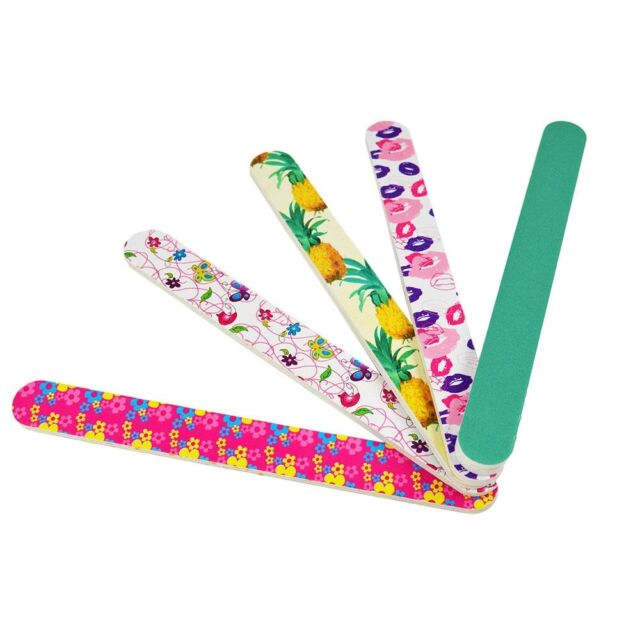 4Pcs Acrylic Nail Art Sanding Files Polish Buffer Block Manicure Tips Tools A1F