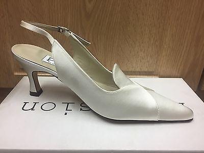 Satén color marfil Wedding Bridal Dama Zapato todos los tamaños puro y preciosos Joel