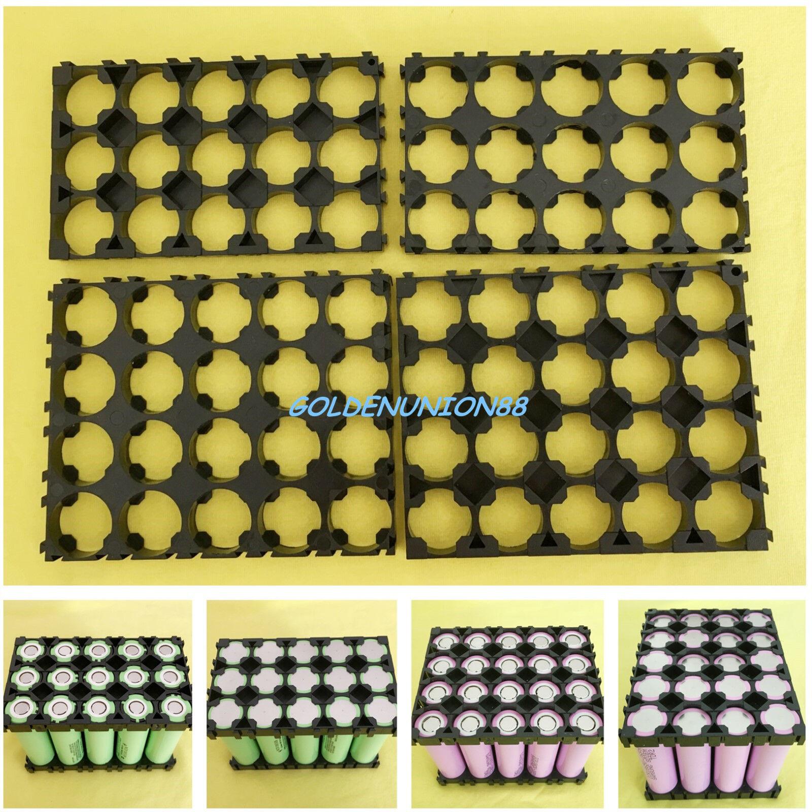 2PC 3X5 4X5 18650 18500 Spacer Frame Radiating Plastic Holder Bracket