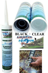 Image Is Loading Silicone Aquarium Sealant Clear Or Black 10 2
