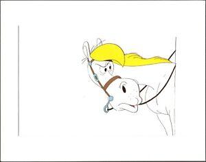 Lucky-Luke-original-production-Cel-of-Jolly-Jumper-Hanna-Barbera-1983