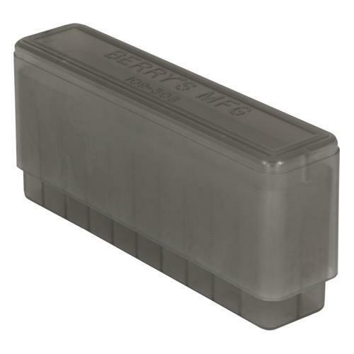 243 308 7.62x39 22-250 6mm 30 30 BERRY/'S SLIP TOP AMMO BOX 20 ROUND 3 SMOKE