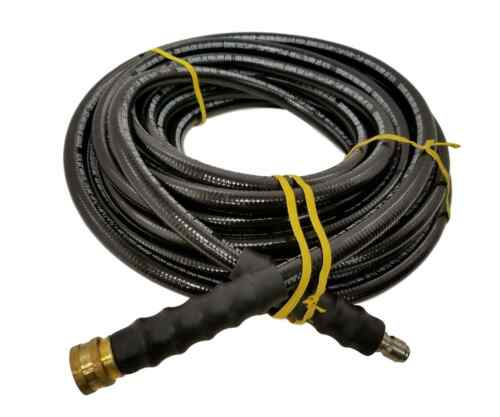 "3//8/"" 50 Feet 4000 PSI Black Pressure Washer Hose Quick Connect Fittings"