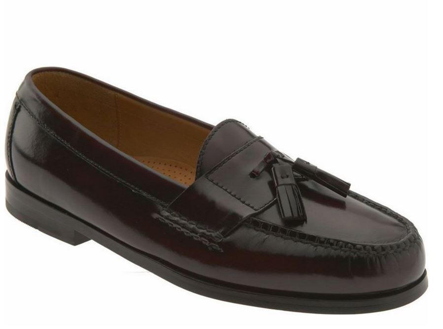 Cole Haan Men's Pinch Tassel Slip-On Loafer shoes Burgundy