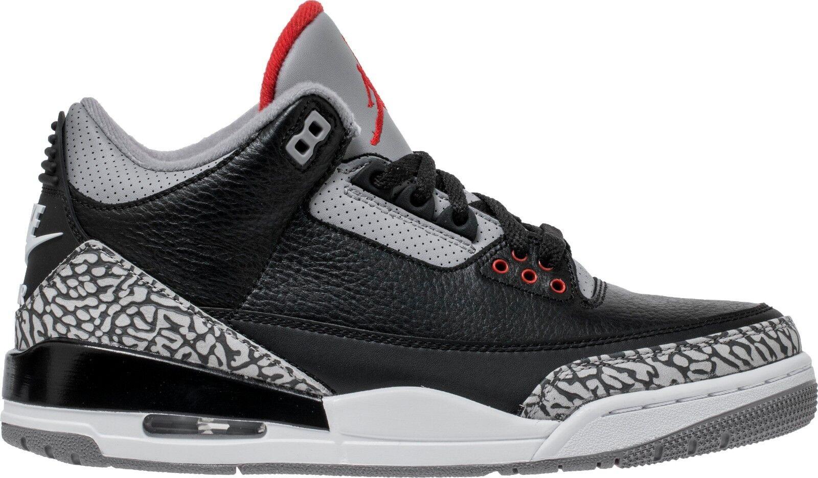 Nike Air Jordan 3 Black Cement Retro III OG 854262 001 Great discount