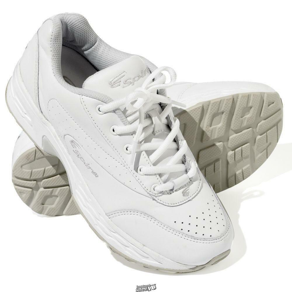Spira Classic Wide Width Spring Loaded Walking shoes Men's Wide White Size 12