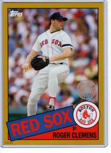 Roger-Clemens-2020-Topps-1985-35th-Anniversary-5x7-Gold-85-18-10-Red-Sox