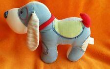 """Gund Baby Snoodle Blue Green Puppy Dog Soft Toy Baby Comforter 59064  11"""" Medim"""
