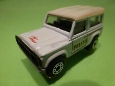 MATCHBOX LAND ROVER NINETY - POLICE POLITIE - WHITE 1:62 - GOOD CONDITION