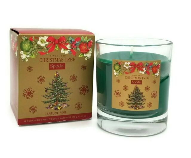 Spode Christmas Tree Spruce Pine Scented Jar Candle Pine